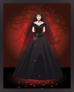 The bride of the vampire , vector