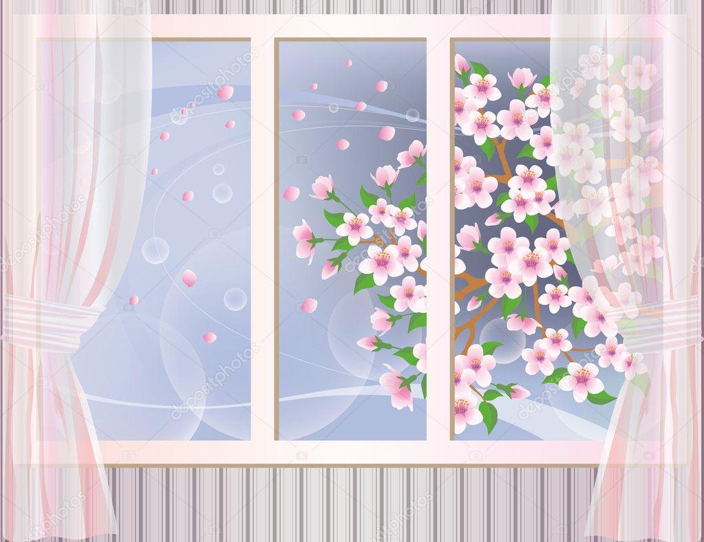 Spring wallpaper, vector