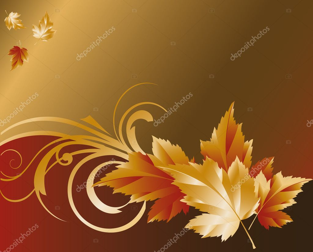 Autumn wallpaper, vector