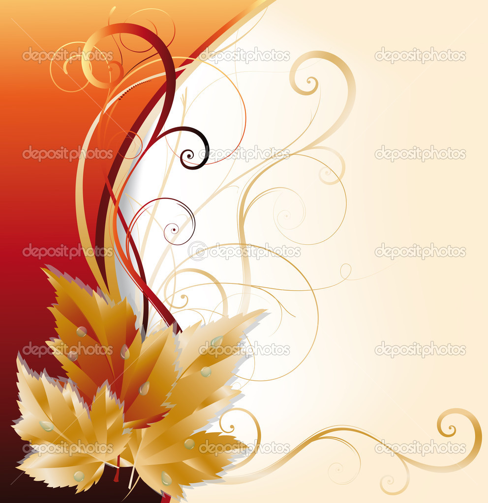 Autumn greeting card. vector