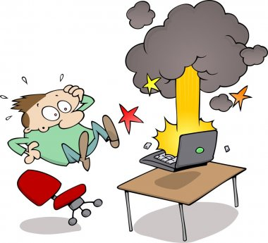 Exploding computer