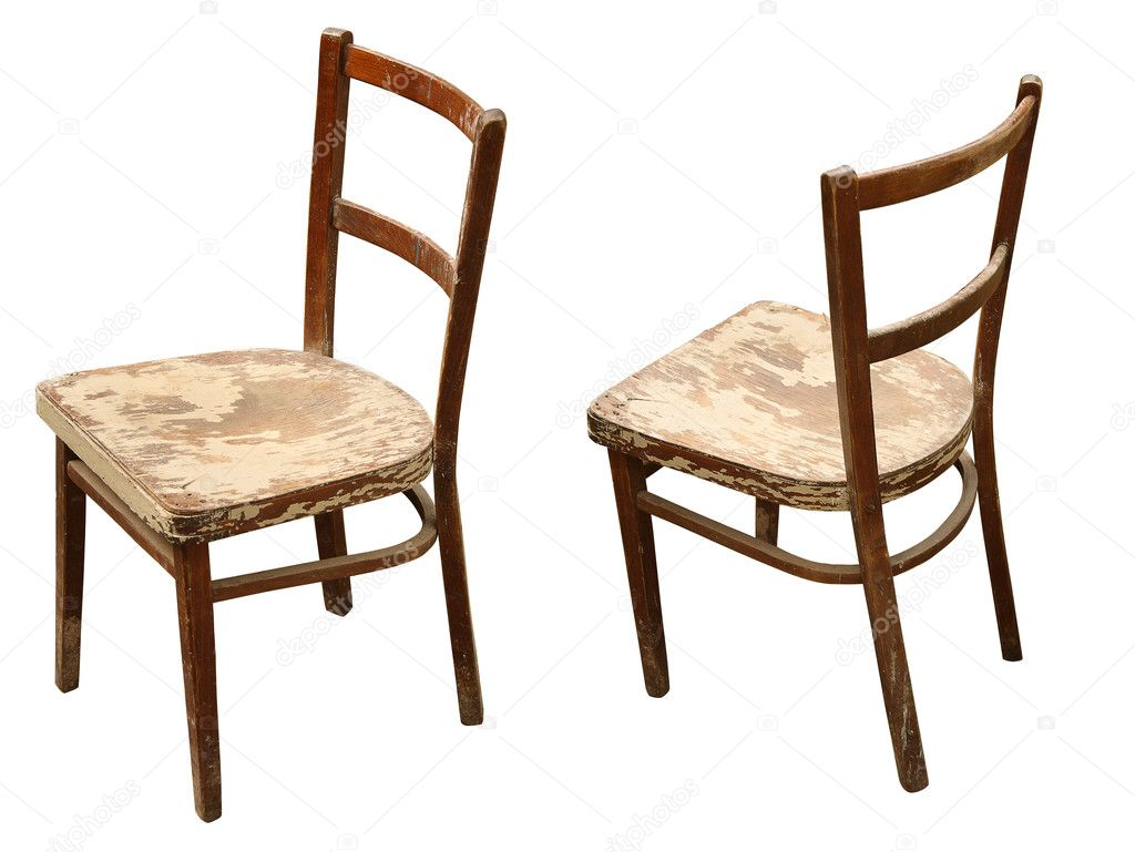 Old wooden chairs - Old Wooden Chair Stock Photo 3727750