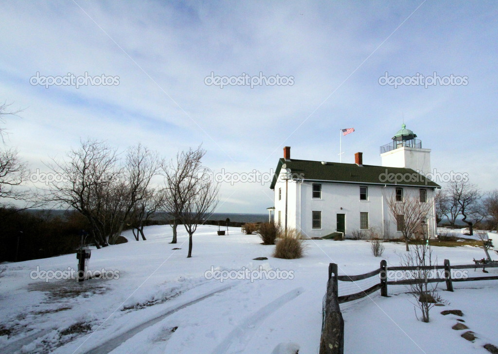 Horton Point Lighthouse in Snow