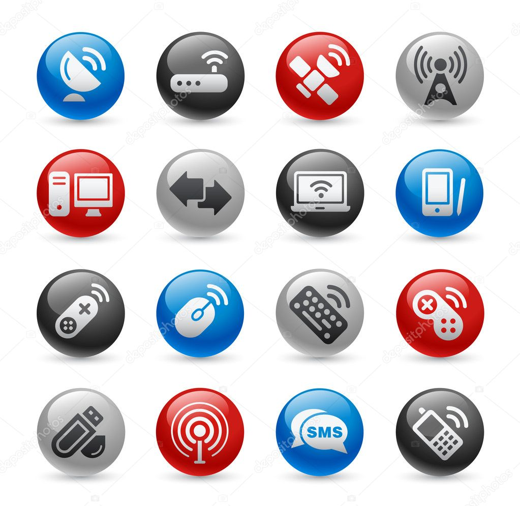 Wireless & Communications Icons