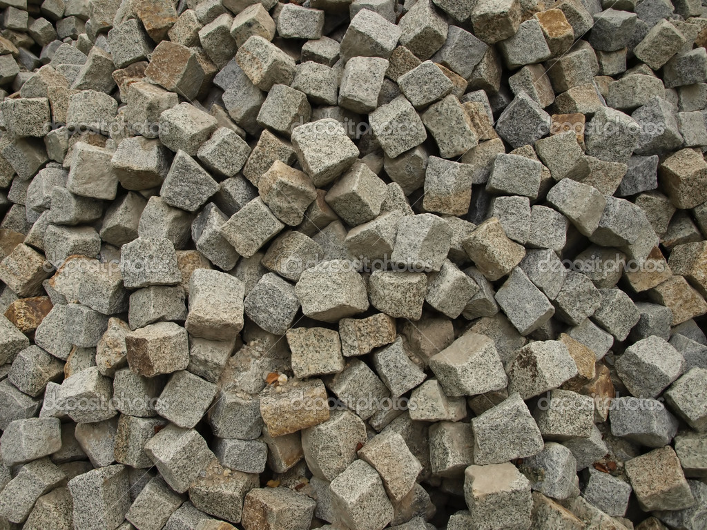 Stone Construction Materials : Stone as raw material for the construction — stock photo