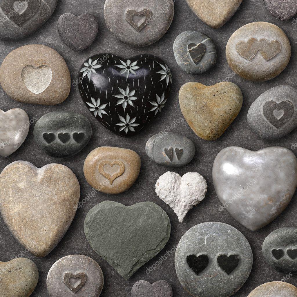 Heart shaped stones and rocks