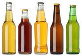 Fotografia bottiglie di birra vuote