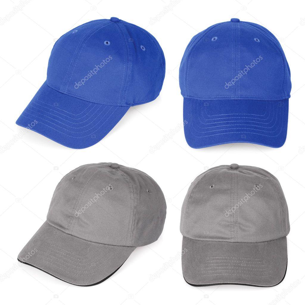 gorras de béisbol en blanco azul y gris — Fotos de Stock © sumners ...