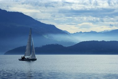 Sailing on lake Zug