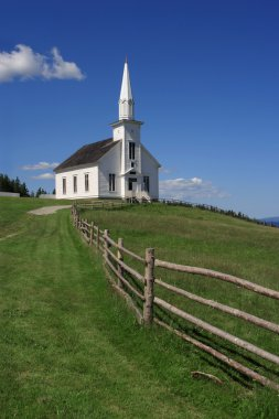 Little white church on a hill