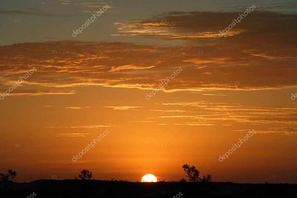 Australian outback sunset