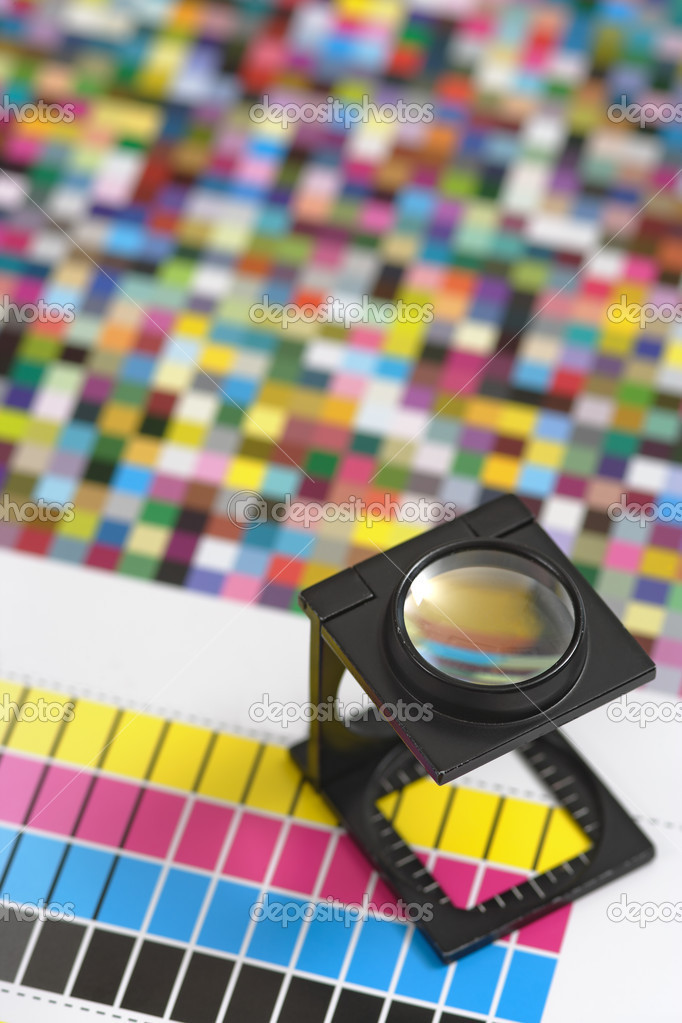 Printers magnifying glass