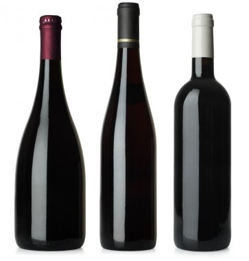 Red wine bottles blank no labels