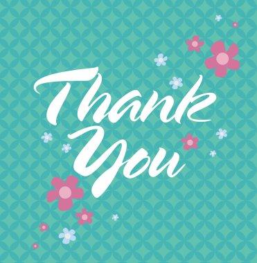 Editable Thank You Card clip art vector