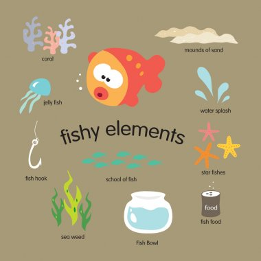 Fishy Elements Set