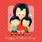 Fotografia felice festa della mamma asiatica