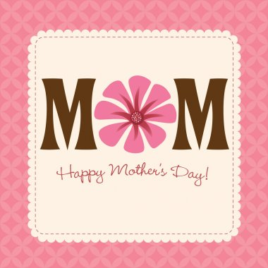 Holiday quilt design for moms day clip art vector