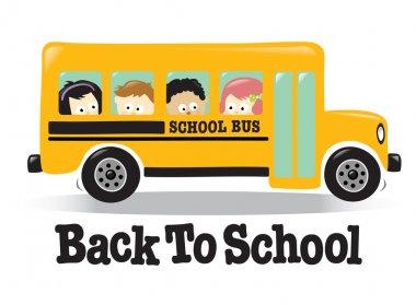 Back To School bus w/ kids