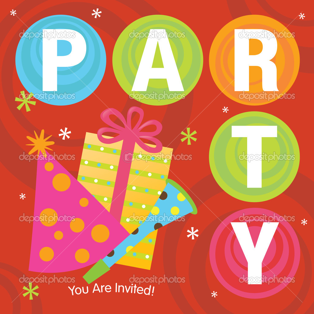 Cool Party Invitation — Stock Vector © wetnose #3117157