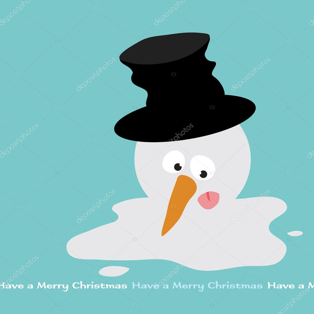 Melting Snowman (removable text)