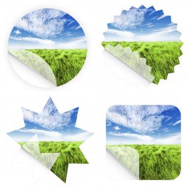 Beautiful grass stickers