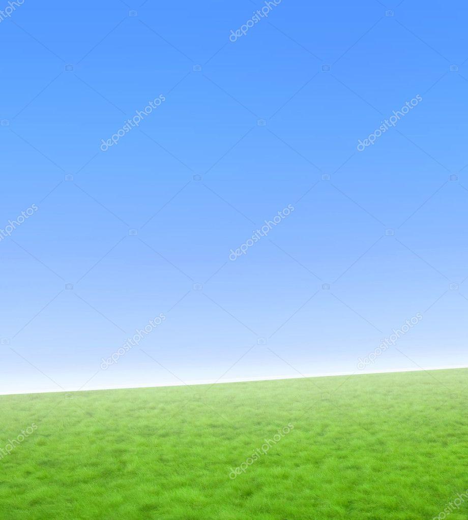 Basit Mavi Ve Yeşil Doğa Arka Plan Stok Foto Domencolja 3051778