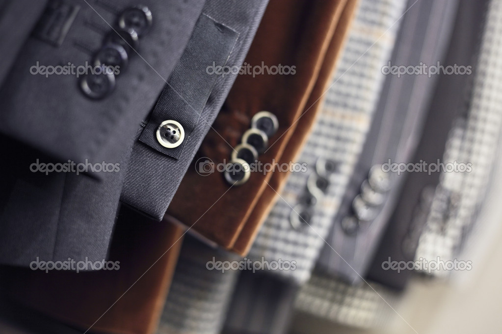 Buttons on luxurious jackets sleeves