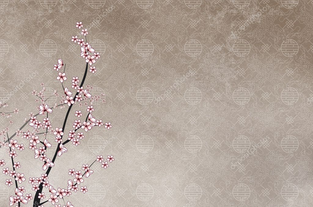 Decorative cherry tree, chinese pattern
