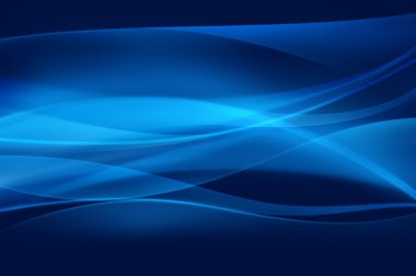 Abstract blue background, wave, veil or smoke texture - computer generated
