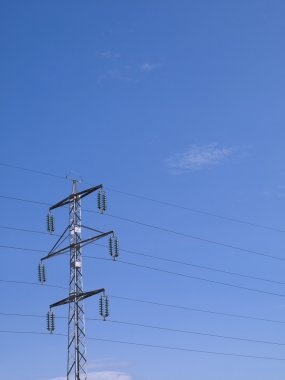 Power Pylon against a blue sky