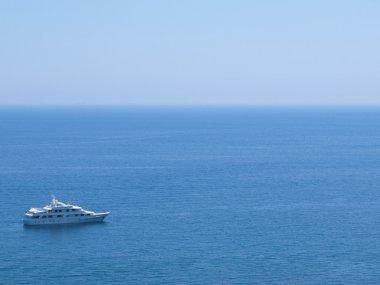 Cruise ship in the Mediterranean Sea