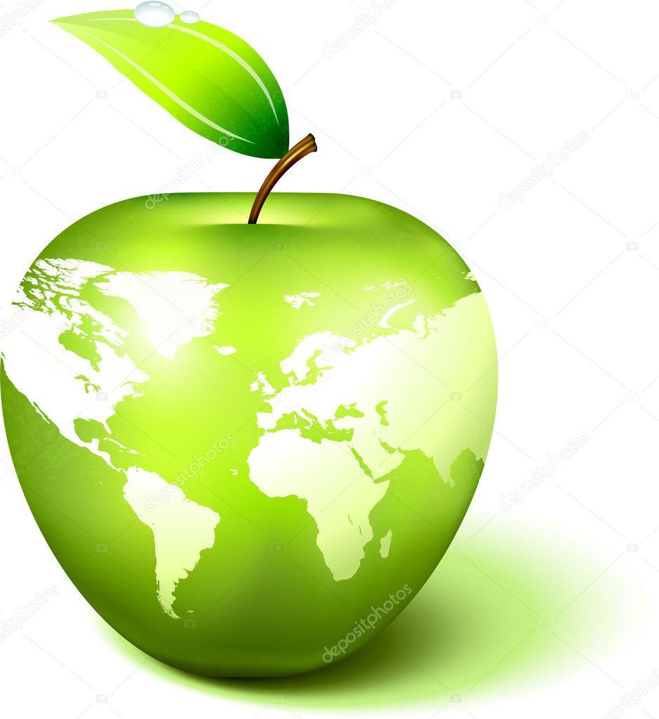 Globo de apple con el mapa de mundo vector de stock iconspro globo de apple con el mapa de mundo vector de stock 3038881 gumiabroncs Choice Image