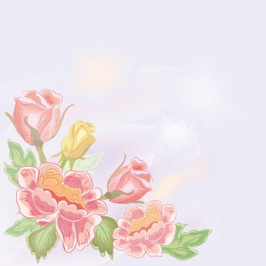 Flower watercolor background.