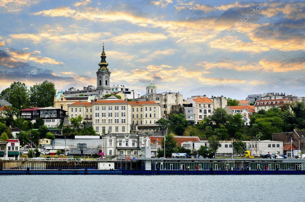 Βελιγράδι cityscape Δούναβη — Φωτογραφία Αρχείου