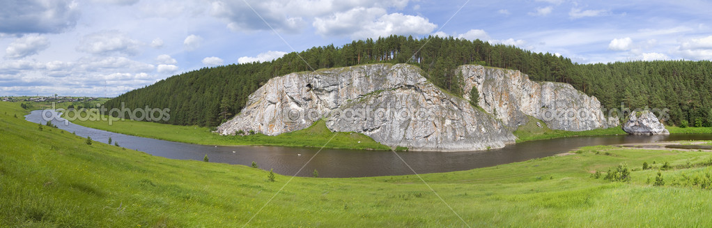 River and the rock | Panorama