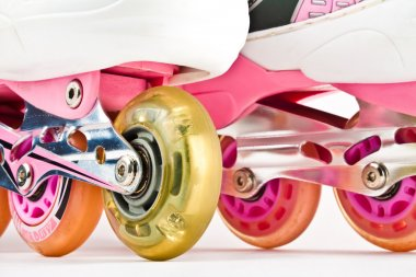 Roller blades close up