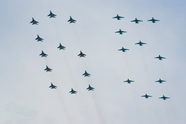 Jet fighters in