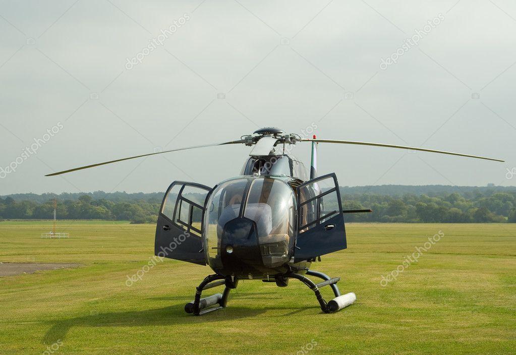 Black EC-120 helicopter