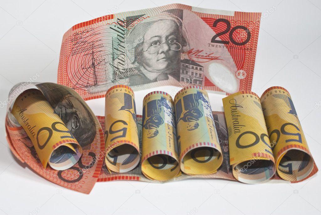 Avustralya Doları 20 Ve 50 Stok Foto Theclarkester 3088824
