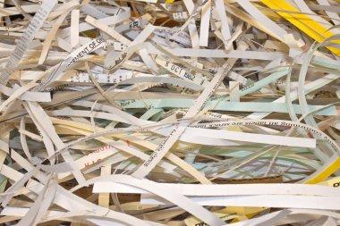 Confidential paper - shredded