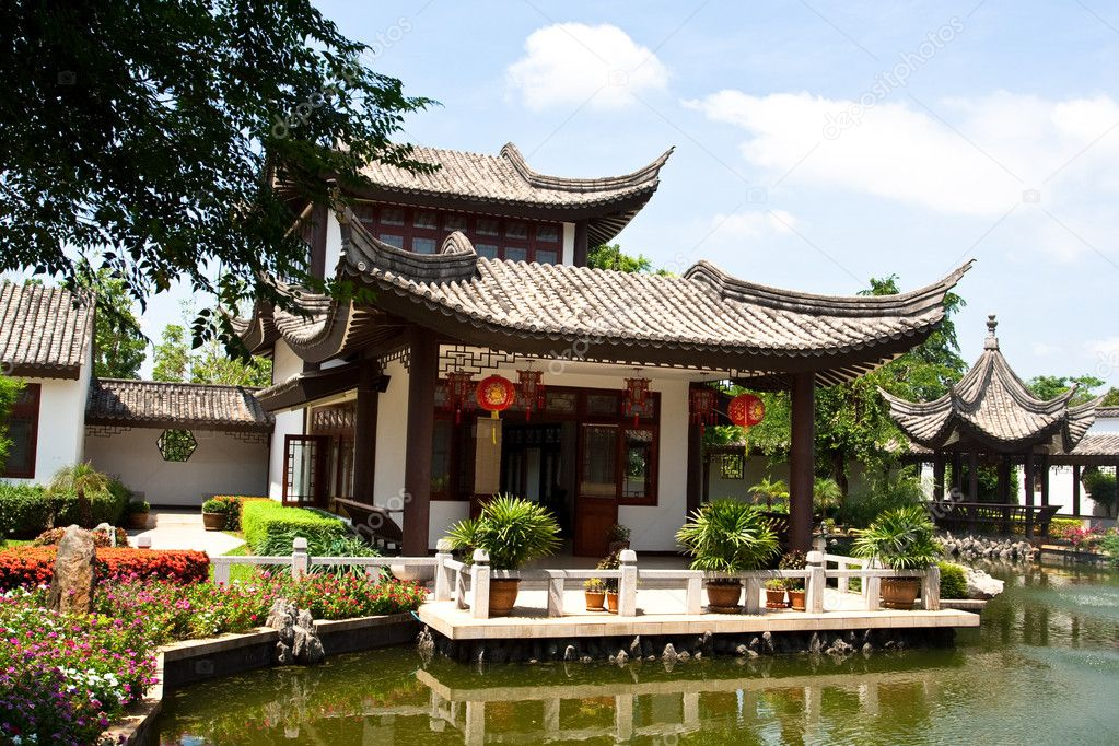 Chinese house stock photo graycat 3149573 for Chinese architecture house design