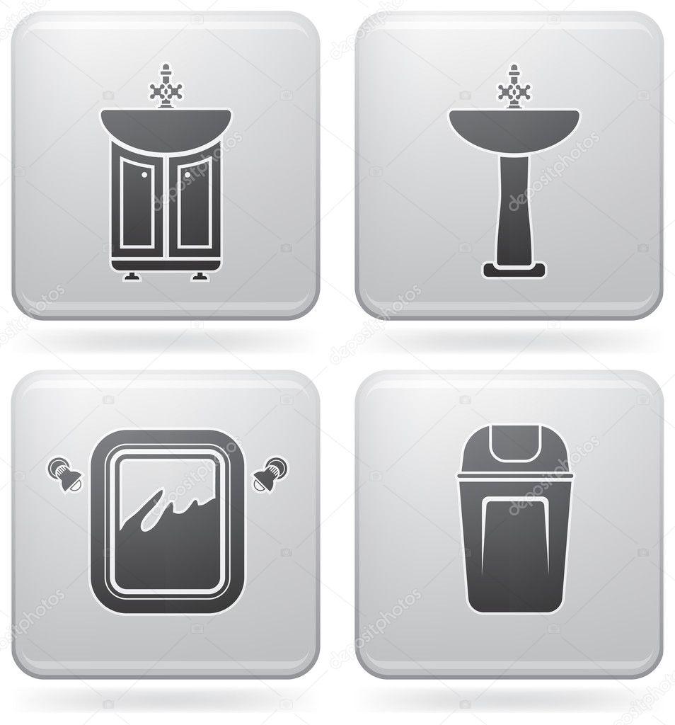 free sketch bathroom appliances royalty set vector image