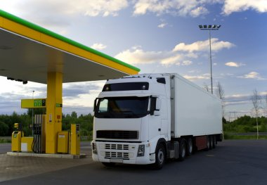 Truck at a fuel-station