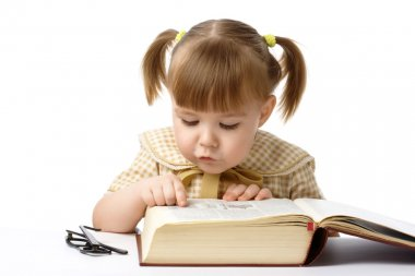 Cute child with book