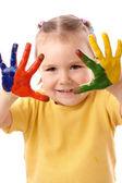 roztomilé dětské malování pomocí rukou