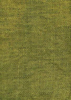 Olive green jute canvas texture