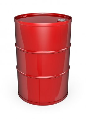 Red oil drum