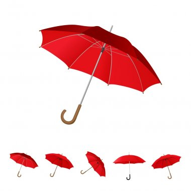 Red umbrella set