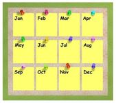 Photo Months notice board