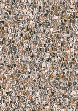 Abstract newspaper